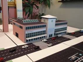 1:200 Scale Model Airport Brick Terminal Building #2