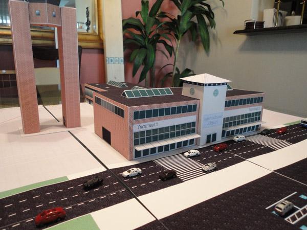 1:200 Scale Model Brick Airport Terminal #2