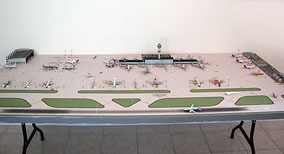 1:500 Scale Model Airport Single Runway #1