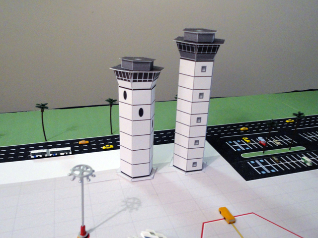 model airport control-towers