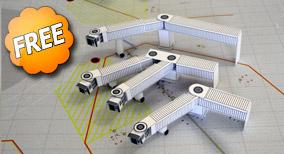 miniature-airport-jetway Trio