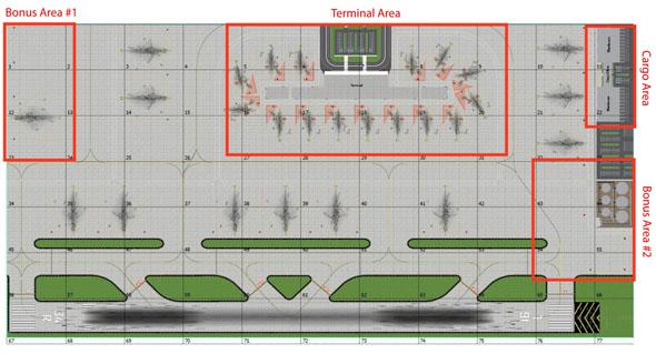 1:400 Single Runway #1 Model Airport Layout
