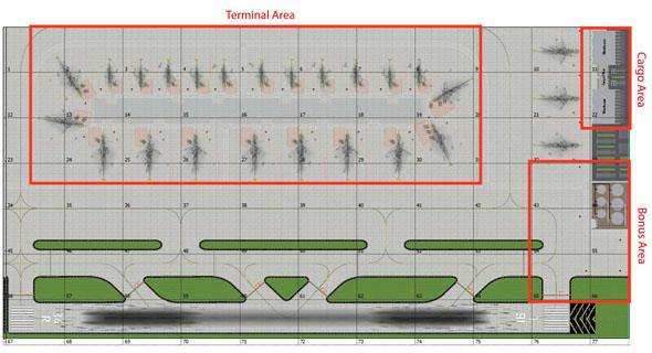 1:400 Single Runway #3 Model Airport Layout