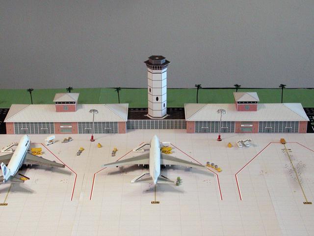 model airport terminal-brick