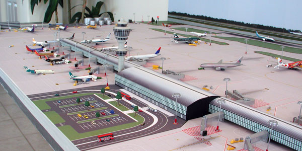 Model Airport Terminal Building #2 | Airport Diorama Designs