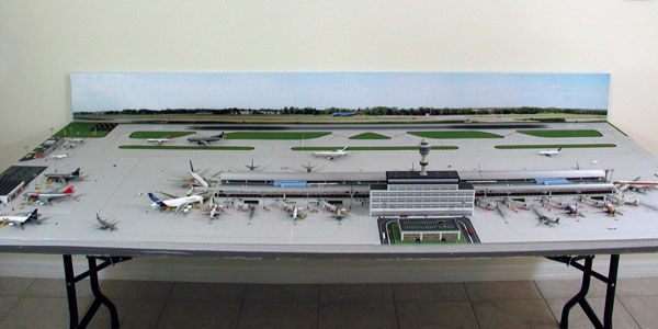 Model Airport Background #5 | Airport Diorama Designs