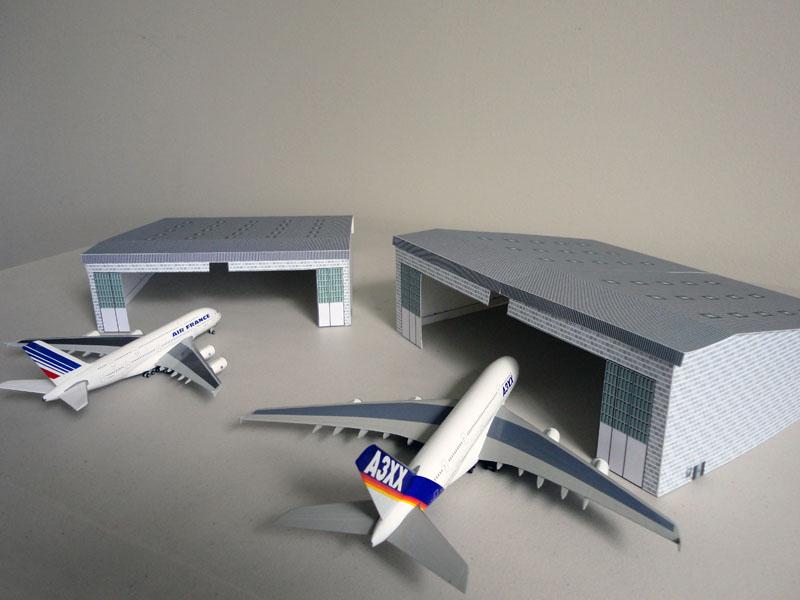 Model Airport Airplane Hangar Large Kit Airport Diorama